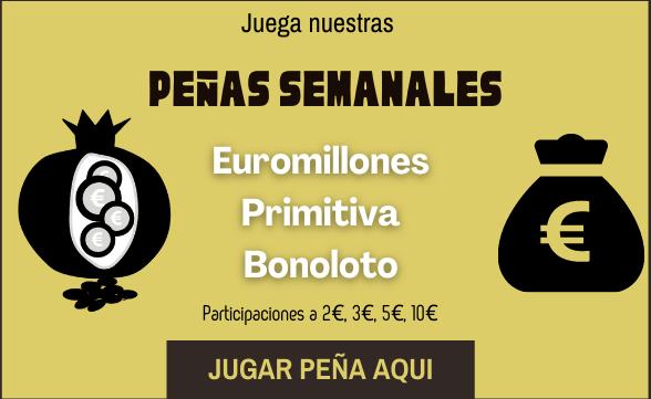 Juega las Peñas de La Granada de Oro, Euromillones, Primitiva, Bonoloto